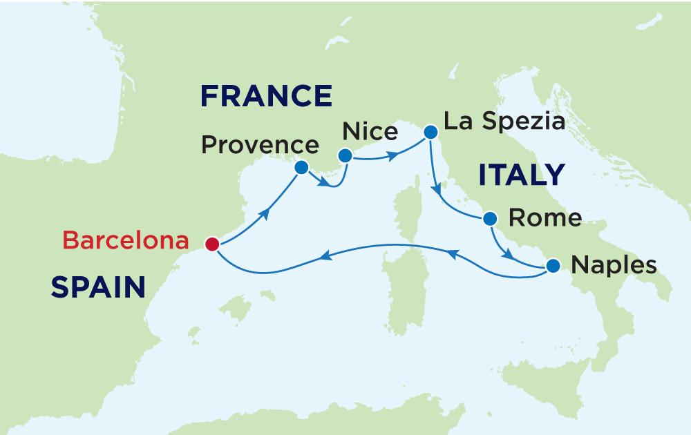 Khám phá Tây Ban Nha - Pháp - Ý cùng du thuyền 5 sao