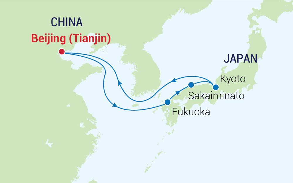 Tận hưởng cuộc sống hoàng gia trên du thuyền qua Trung Quốc - Nhật Bản