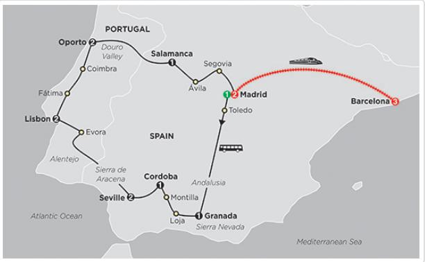 Khám phá bán đảo Iberia