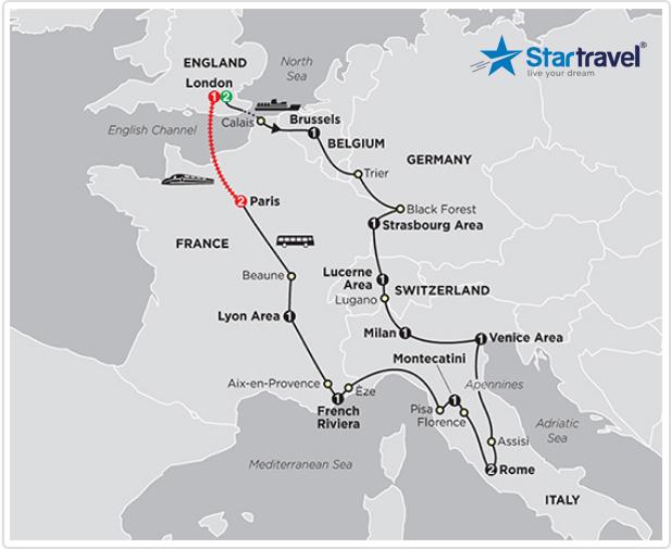 Một vòng khám phá Châu Âu xinh đẹp