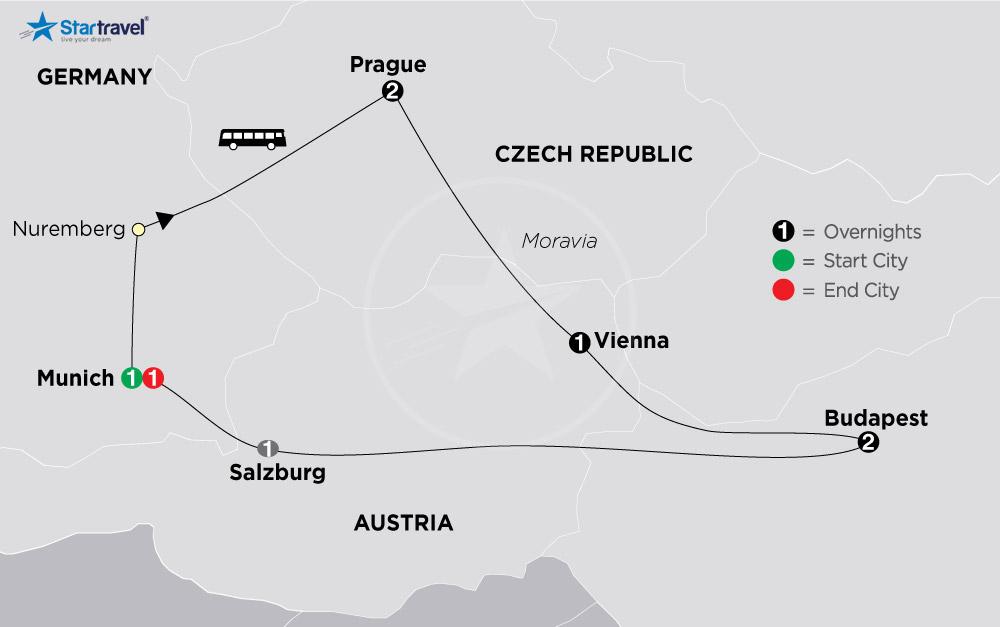 Khám phá Munich - Nuremberg - Praha - Vienna - Budapest mùa Noel