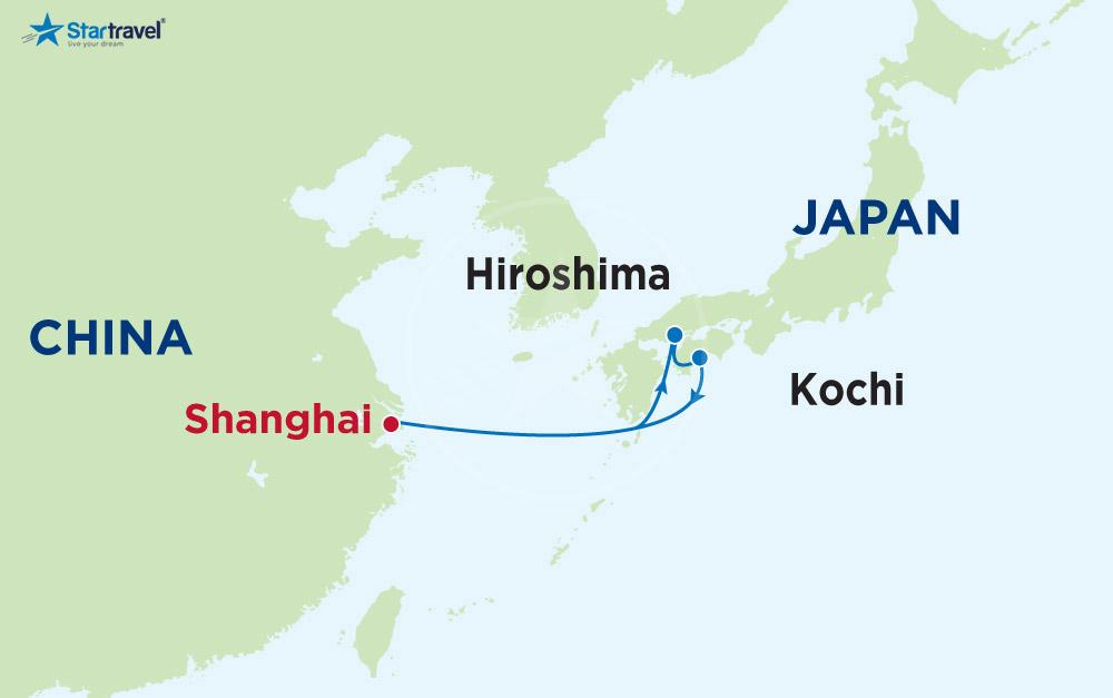 Tour Du thuyền 5 sao khám phá Trung Quốc - Nhật Bản