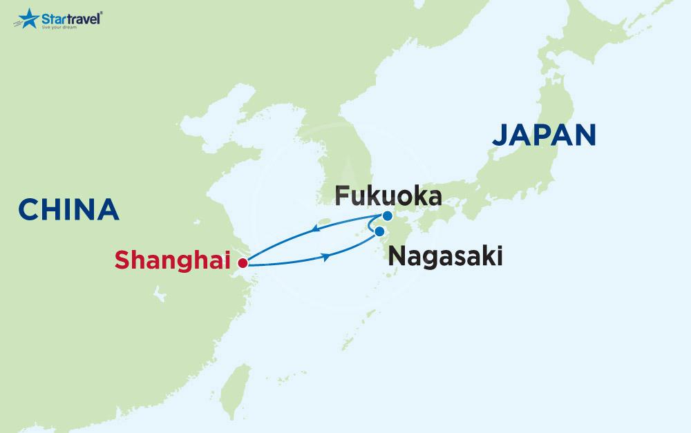 Ngắm Hoa Anh Đào Thượng Hải - Nhật Bản cùng du thuyền 5 sao