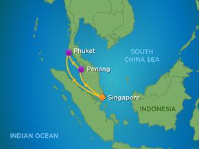 Tour du thuyền 5 sao đi Singapore - Malaysia - Thái Lan