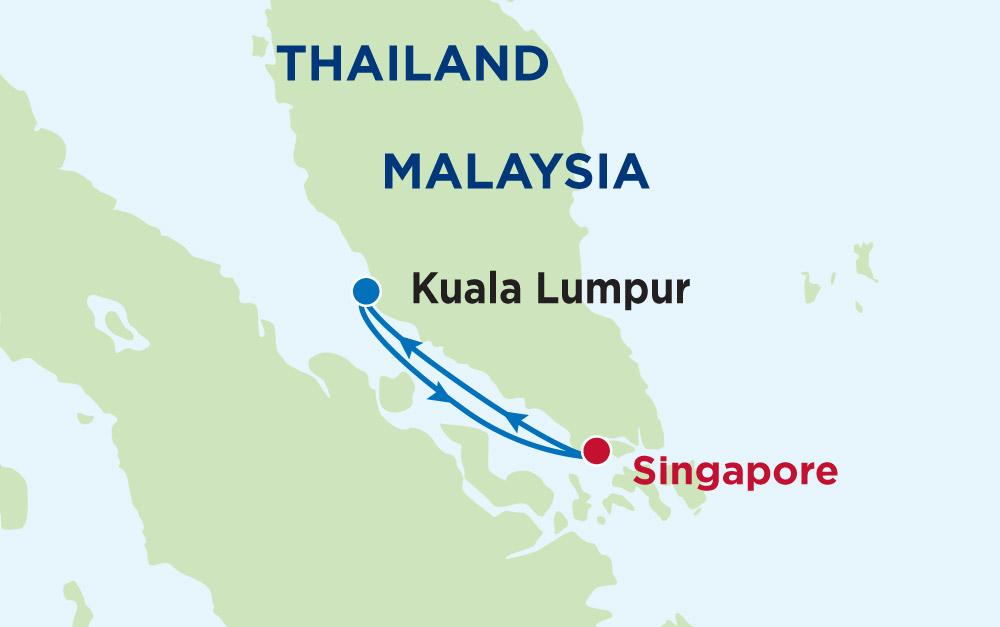 Khám phá Singapore - Kuala Lumpur cùng Du thuyền 5 sao