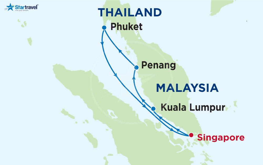 Khám phá Singapore - Malaysia - Thái Lan cùng Du thuyền 5 sao