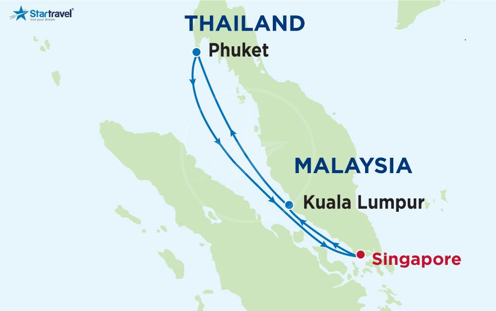 Đón thu vàng trên boong tàu qua 3 đất nước - Thái Lan - Singapore - Malaysia