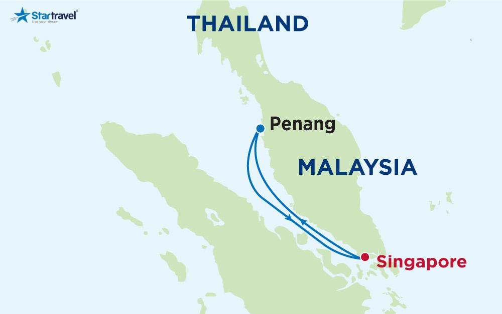 Cùng Du thuyền 5 sao khám phá Singapore - Penang