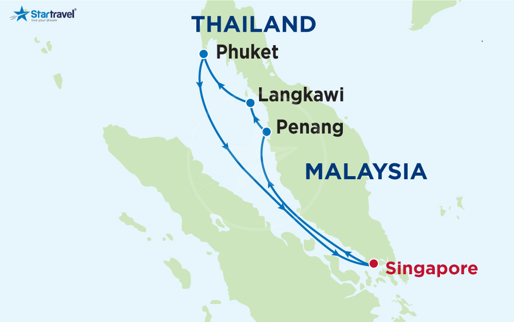 Du lịch Tết 2019 cùng du thuyền 5 sao Voyager đến Singapore, Langkawi, Penang, Phuket