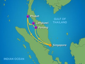 Tour du thuyền 5 sao Mariner of the Seas đi Singapore - Malaysia - Thailand