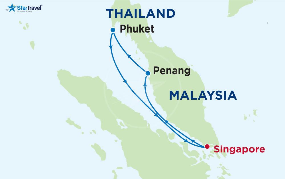 Trải nghiệm SIÊU PHẨM DU THUYỀN Ovation đến Singapore - Malaysia - Thái Lan