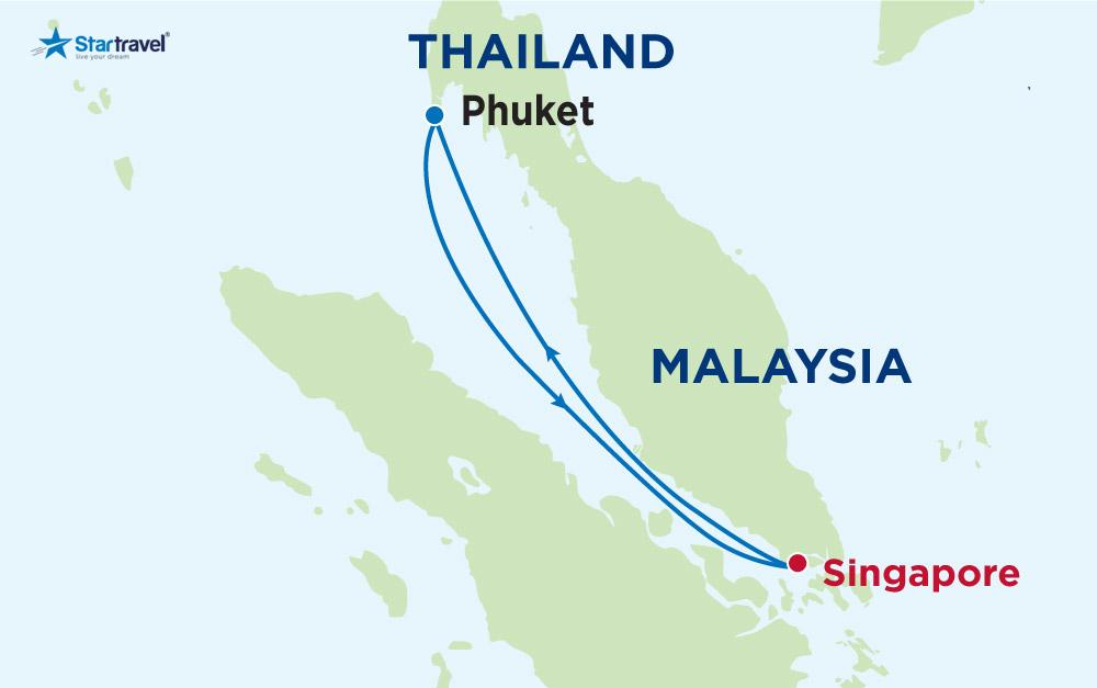 Du thuyền 5 sao khám phá Singapore - Thái Lan