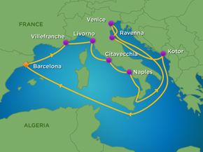 Khám phá Địa Trung Hải cùng du thuyền 5 sao Brilliance of the seas