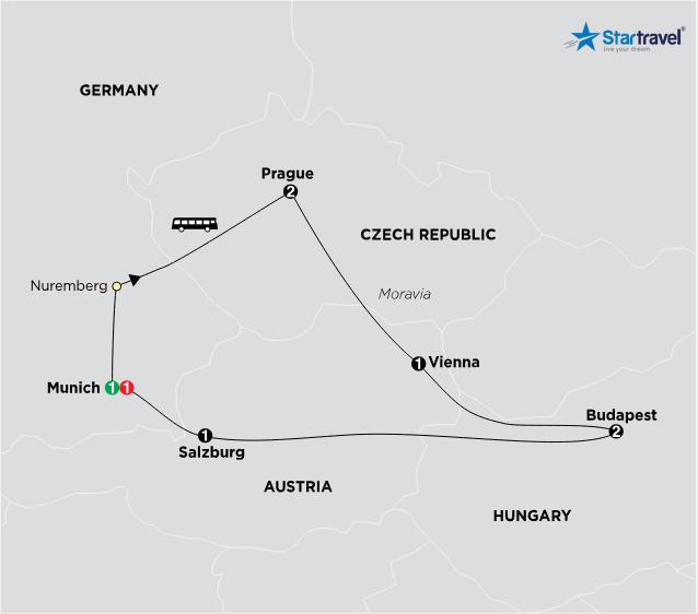 Hành trình khám phá Đông Âu khi vào hạ