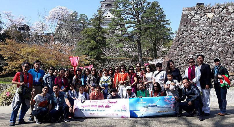 Đoàn khách trải nghiệm Hoa Anh ở Hiroshima - Kochi 25/03/2018
