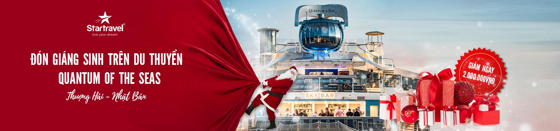 Đón giáng sinh trên du thuyền Quantum Of The Seas