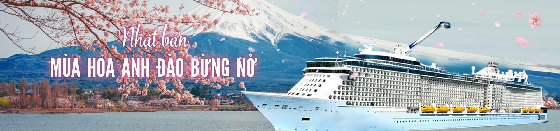 Du thuyền Nhật Bản - Mùa hoa anh đào bừng nở
