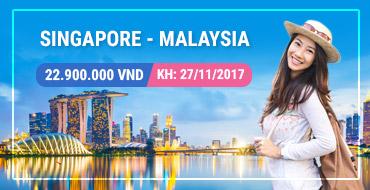 Tour Singapore - Malaysia - Thái Lan 2711/2017