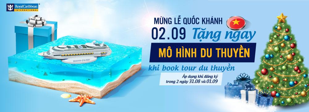 Book tour 2/9 Tặng mô hình du thuyền