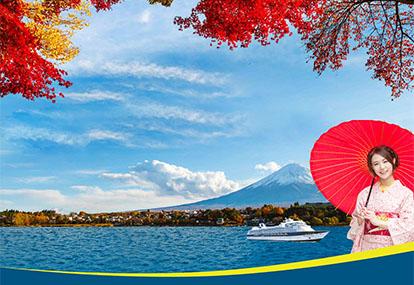 Ngẩn ngơ với sắc vàng đỏ của mùa Thu Nhật Hàn trên hải trình đẳng cấp