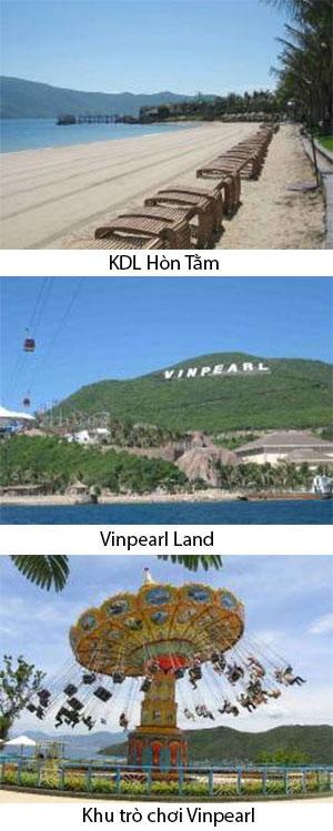 Ngày 02: NHA TRANG - HÒN TẰM - VINPEARL LAND