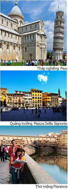 FLORENCE/PISA, Ý (Ăn: phục vụ 24/24 trên du thuyền)