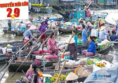 Tour du lịch Miền Tây - Mỹ Tho - Cần Thơ - Chợ Nổi Cái Răng dịp Lễ 2/9 từ Sài Gòn