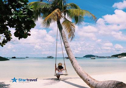 Tour du lịch Phú Quốc - Ngắm hoàng hôn tại Sunset Sanato (Tặng tour câu cá, lặn ngắm san hô, 20kg hành lý)