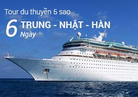Tour du thuyền 5 sao Mariner of the seas đi Trung Quốc, Nhật Bản, Hàn Quốc 6 Ngày
