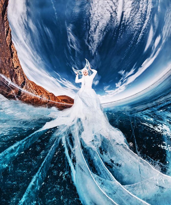 Loạt ảnh check in siêu ấn tượng tại hồ Baikal