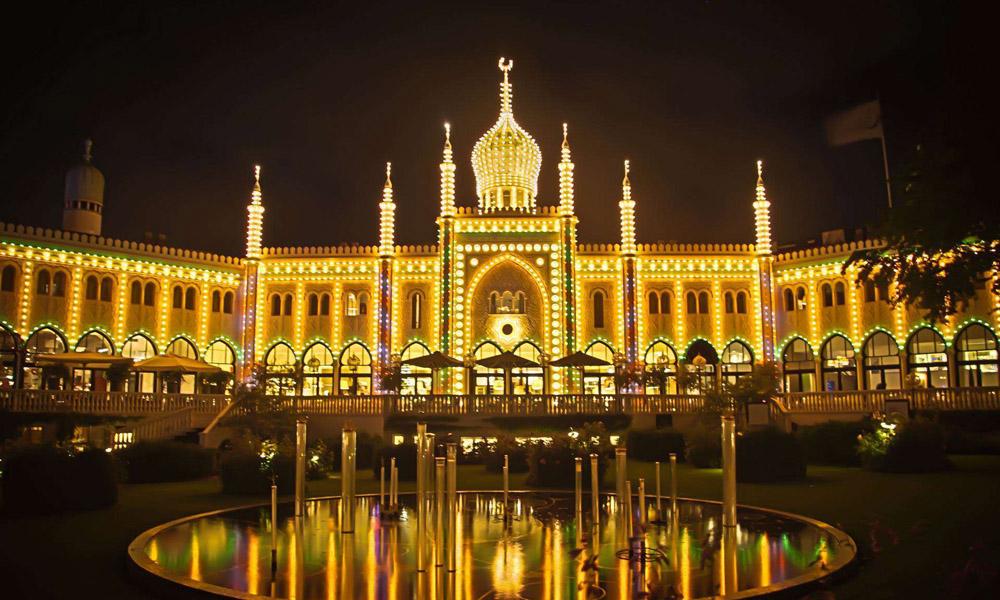 Tivoli Castle sparkling Denmark