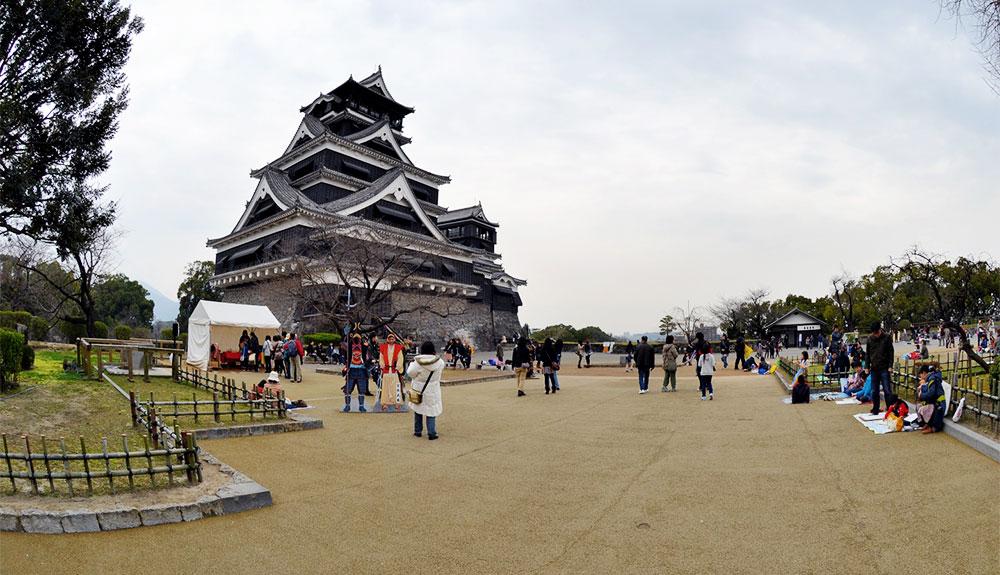 du thuyền biển lâu đài kumamoto