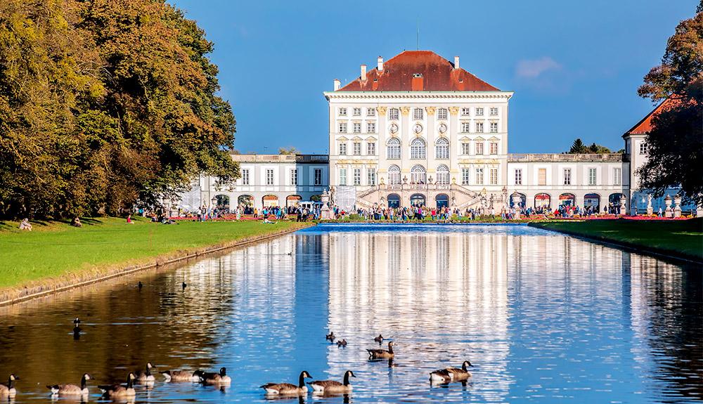 cung điện schloss nymphenburg munich duc