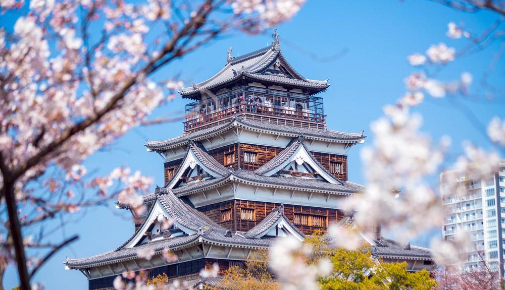 du thuyền 5 sao hoa anh đào thành matsue hiroshima