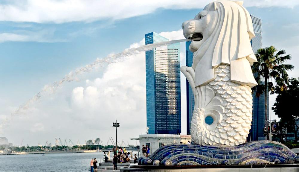 du thuyền 5 sao sư tử biển merlion singapore