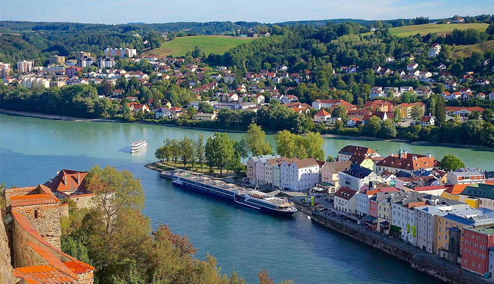 Quan cảnh thành phố Passau Đức