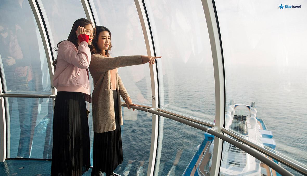 du thuyền biển khám phá sao bắc đẩu trên du thuyền