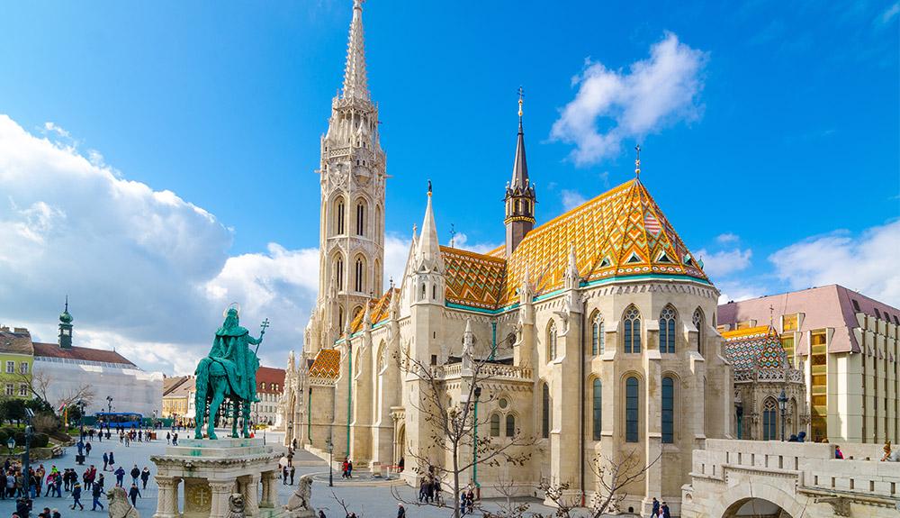 Lâu đài Buda thành phố Budapest Hungary