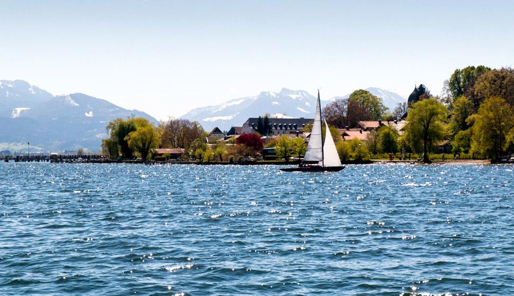 du lịch châu âu chiêm ngưỡng hồ chimsee bavaria