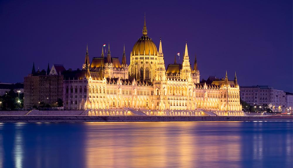 du lịch châu âu cảnh quan budapest về đêm