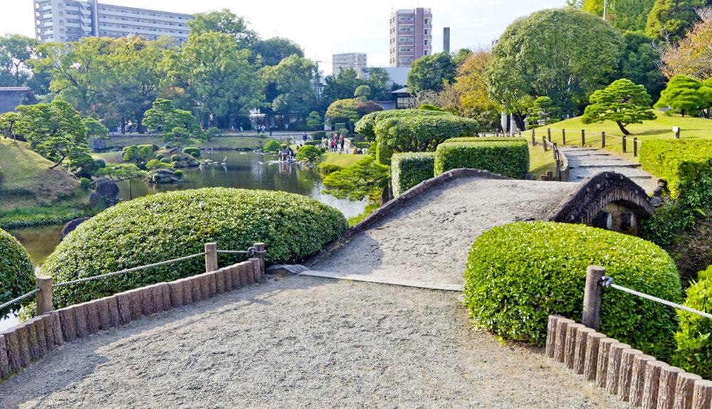 du thuyền 5 sao vườn suizenji joujuen kumamoto nhật bản