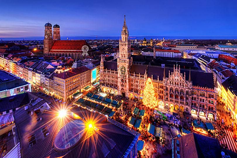 Cảnh tượng thành phố Munich - Đức về đêm