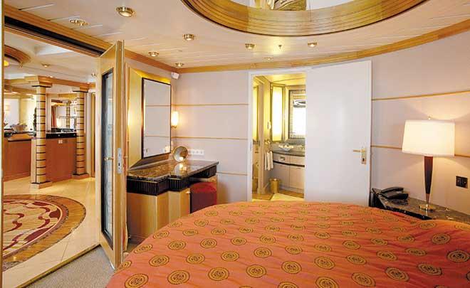 Phòng trên du thuyền 5 sao