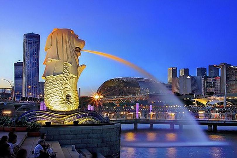Hành trình tới thăm công viên sư tử biển Merlion Park Singapore