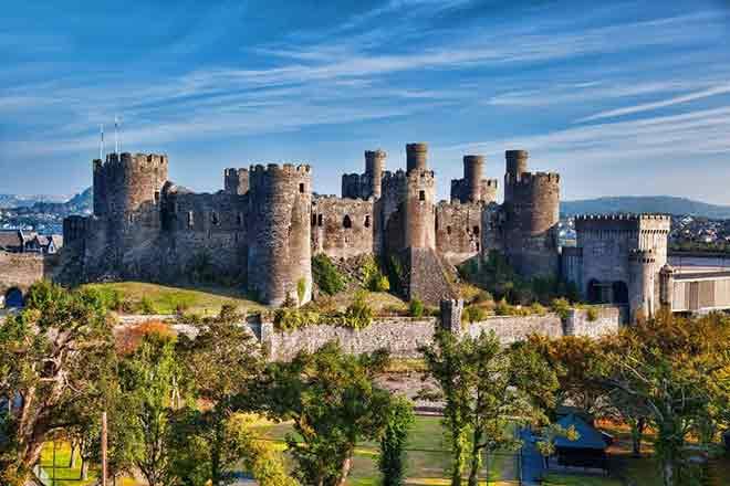 Lâu đài Conwy , Conwy, Wales
