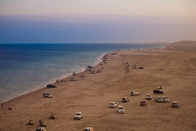 sa mạc biển Mesaieed