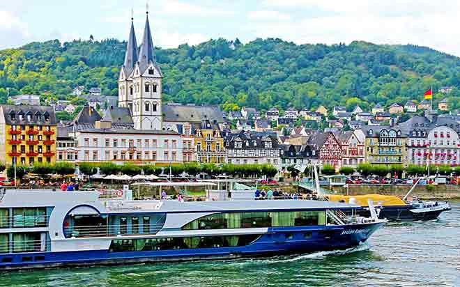 Du thuyền sông Rhine