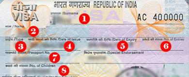 Thông tin cần thiết khi xin thị thực Ấn Độ
