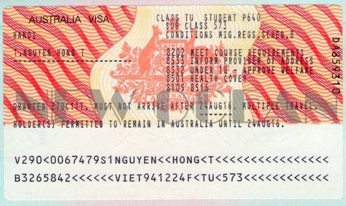 Bảng giá - Hồ sơ làm visa đi Úc